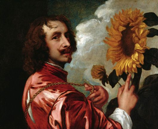 'Self Portrait with Sunflower' Anthony van Dyck 17th century {{PD}}