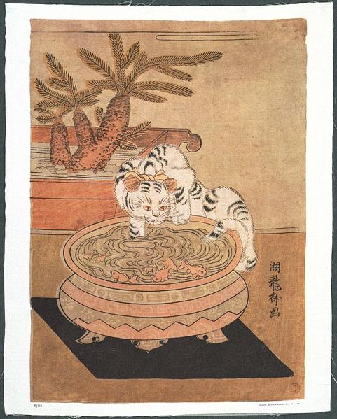 Cat by Isoda Koryusai (1766–1788) Only lived to be 22, but still managed to leave us something of note. {{PD}}
