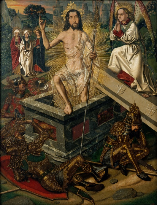 The 'New You' that emerges after the trials of this coming year may be just about this dazzling, Leo. Bartolomé Bermejo - 'Resurrection' c1475 {{PD}}