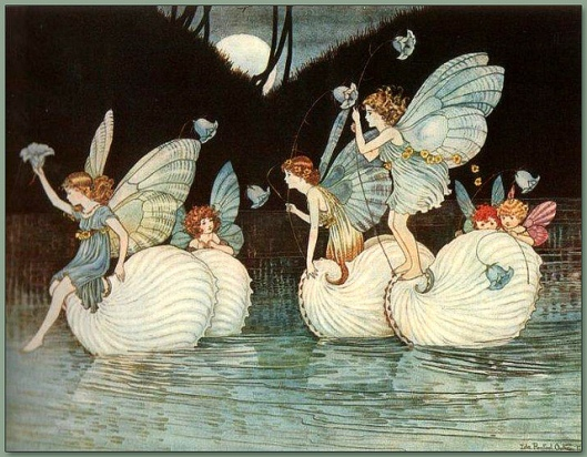 'Fairy Islands' from the book Elves and Fairies 1916 by Ida Rentoul Outhwaite {{PD}}