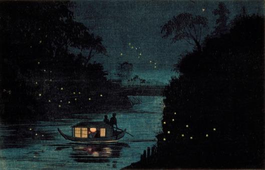 Kobayashi Kiyochika (Japan, 1847-1915) 'Fireflies at Ochanomizu' {{PD}}