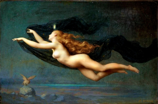 La Nuit by Auguste Raynaud 19th century {{PD}}