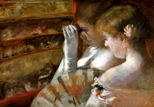 'In the Box' Mary Cassatt 1879 {{PD}}
