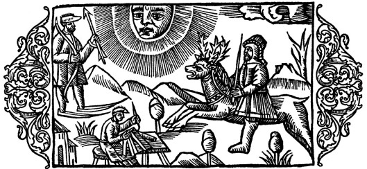 'On the Activities of the People at Moonlight' Olaus Magnus 1555 {{PD}}