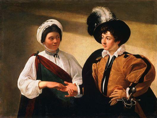 The Fortune Teller-Caravaggio 1595 {{PD}}