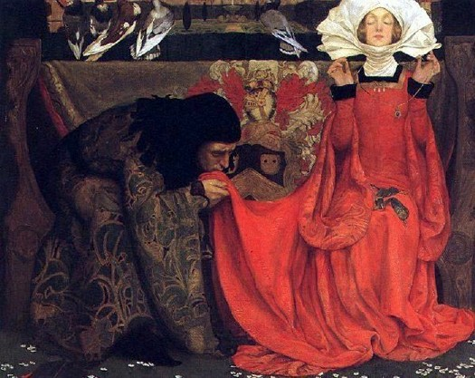'The Pale Complexion of True Love' 1899  Eleanor Fortescue Brickdale {{PD}}