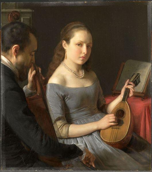 'The Duet' Charles Van Beveren 1849 {{PD}}