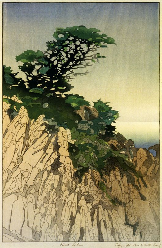 'Point Lobos' 1920 Bertha Boyntom Lum Library of Congress {{PD}}