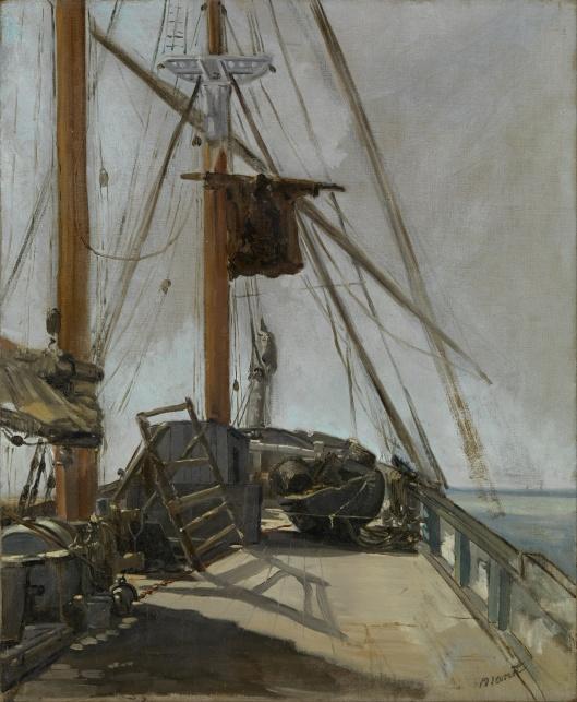 'The Ship's Deck' Édouard Manet c1860 {{PD}}