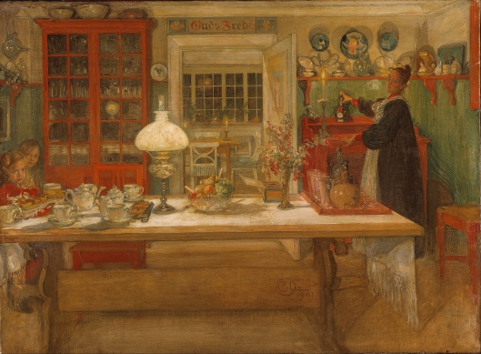 Concentrate on what means the most to you, dear Libra, like home and family. 'Getting Ready for a Game' Carl Larsson 1901 {{PD}}