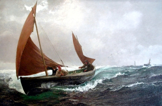 Charles Napier Hemy - 'Running For Home' {{PD}}