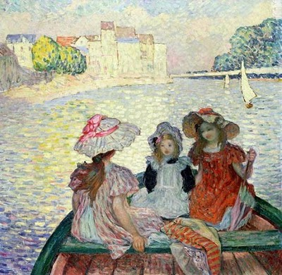 Henri Lebasque 'Young Girls in a Boat' c 1900