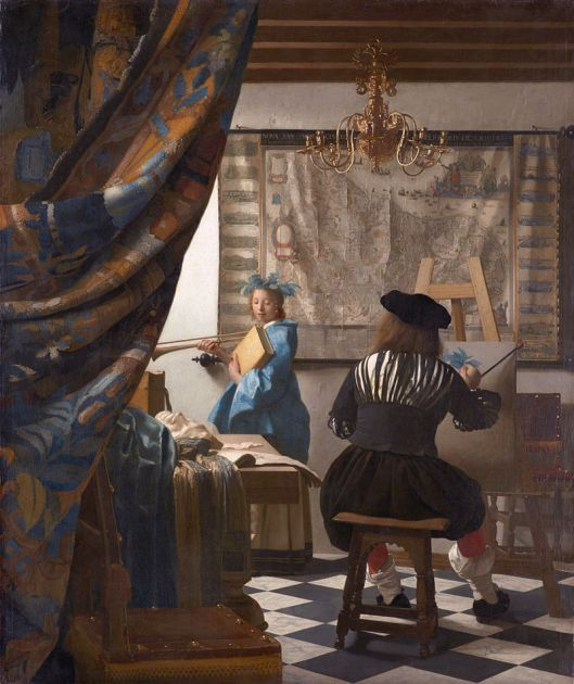 'The Art of Painting' Johannes Vermeer c1666 {{PD}}