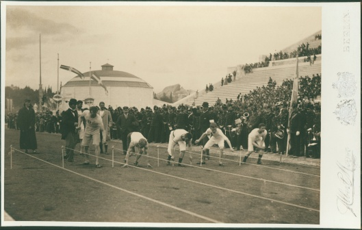 Meyer Albert 'Olympic Games, 1896; preparation for the 100-meter race' 1896 {{PD}}