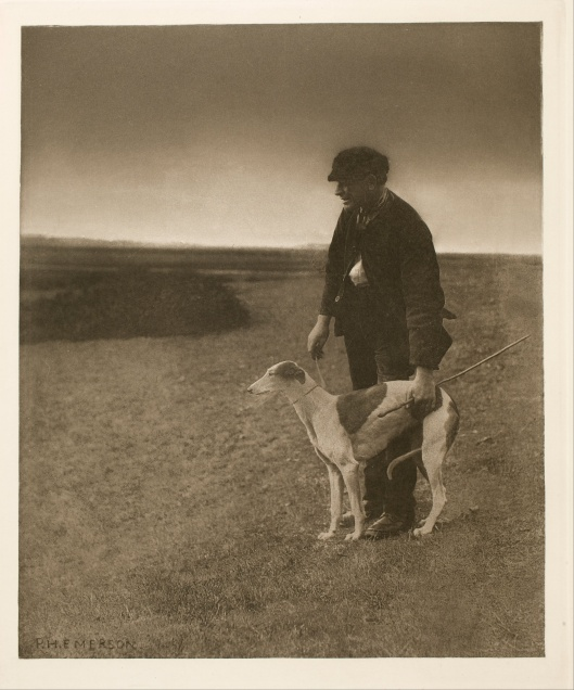 Peter Henry Emerson - The Poacher - A Hare in View c1886 {{PD}}