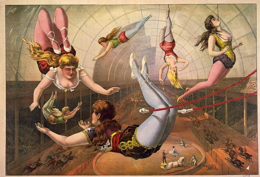 Circus poster, 1890 - Library of Congress {{PD}}