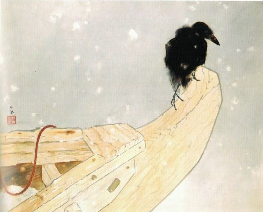 'Spring Snow' (Shunsetsu) by Takeuchi Seiho, 1942 {{PD}}
