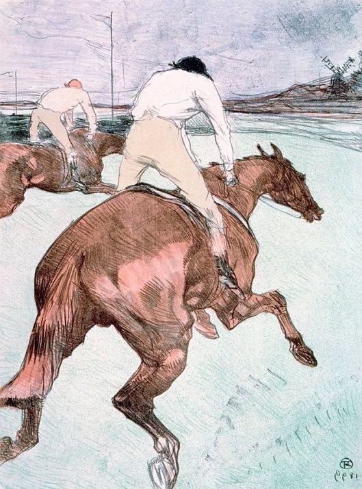 'The Jockey' Henri de Toulouse-Lautrec {{PD}}