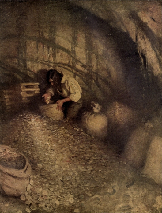 Get out there and do--you'll find something valuable. By N. C. Wyeth, from the 1911 edition of 'Treasure Island' {{PD}}