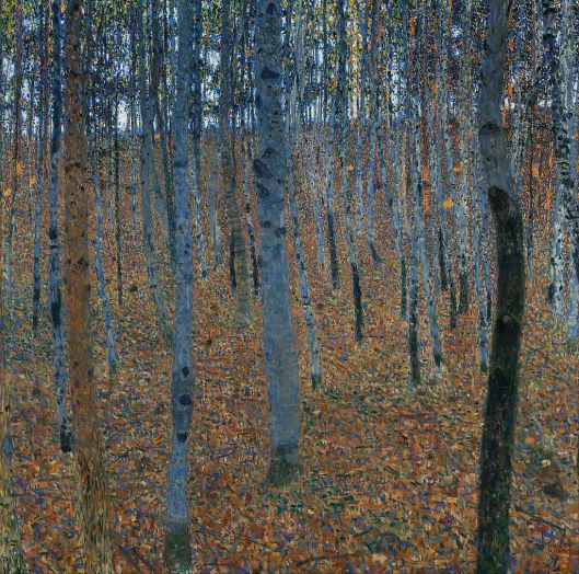 Yes Scorpio, you WILL see the forest, in spite of the trees. Klimt 'Beech Grove I' {{PD}}