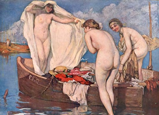 Look within and you'll be surprised, Sagittarius. Fernand Allard L'Olivier 'Baigneuses Surprises' {{PD}}
