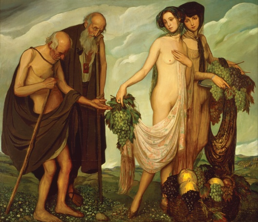 Don't get distracted, Scorpio, by old men offering grapes. Ángel Zárraga 'The Gift' 1910 {{PD}}