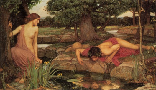 John William Waterhouse 'Echo and Narcissus' 1903 {{PD}}