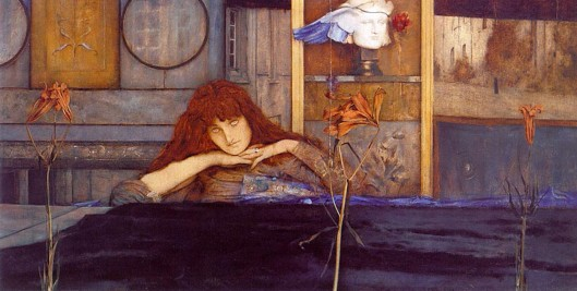 Fernand Khnopff - 'I lock my door upon myself' 1891 {{PD}}