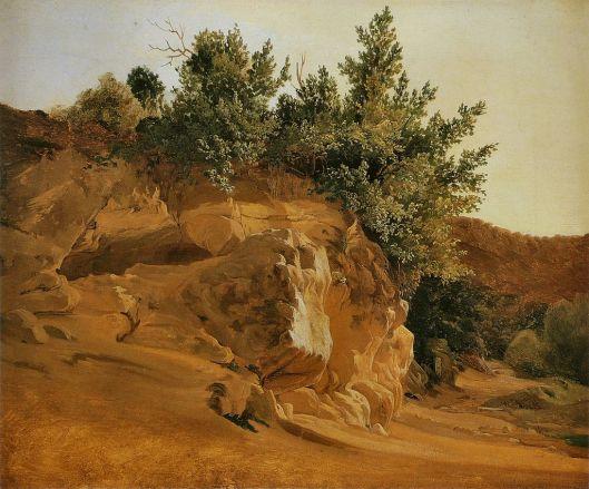 Fritz Petzholdt - 'Étude de roches' c1833 {{PD}}