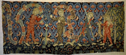 Know who you are before you go forward, Sag! 15th century wall hanging {{PD}}