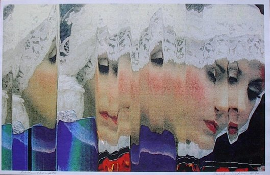 Sarah Jackson, Bride Thoughts, copier art, 1993 Creative Commons Attribution-Share Alike 3.0 Unported