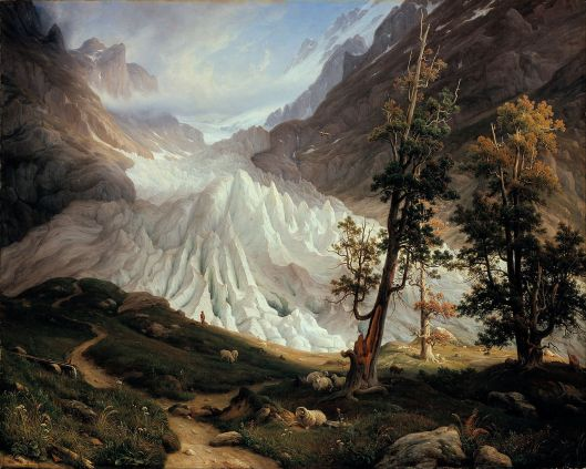 Thomas Fearnley - 'Grindel Forest Glacier' 1837 {{PD}}