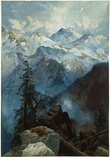 This year the air around you may be a little rarefied and lonely, Sag. Thomas Moran  'Summit of the Sierras' 1872-1875 {{PD}}