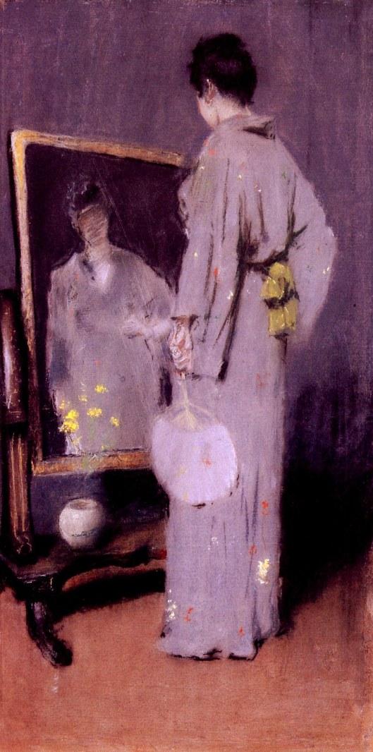 William Merritt Chase 'Making Her Toilet' 1889 {{PD}}