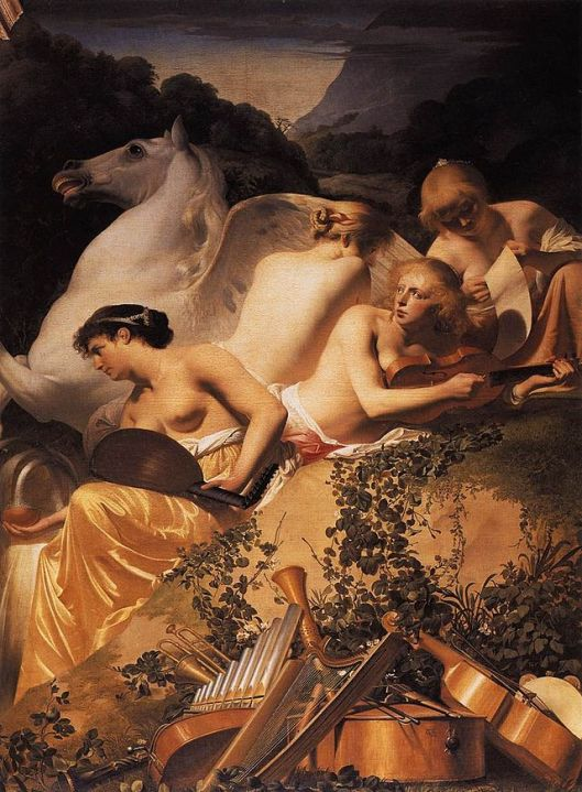 You can fly high this coming year, Sag, but don't forget about the needs of others, especially those you care about. Caesar van Everdingen, - Four Muses and Pegasus on Parnassus - c. 1650 {{PD}}