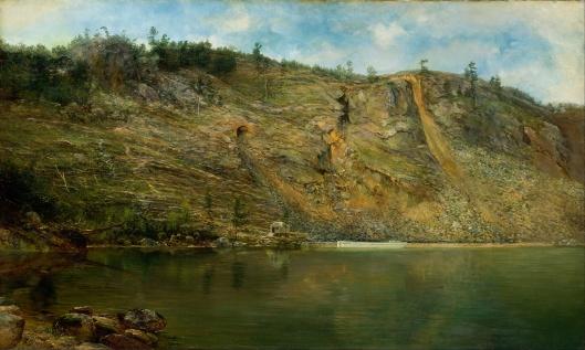 Homer Dodge Martin - The Iron Mine, Port Henry, New York 1862 {{PD}}