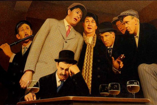 The potential for internal emotional harmony only points up how you may gain from social exposure, too, dear Sag. Sentimental Ballad by Grant Wood, 1940 {{PD}}