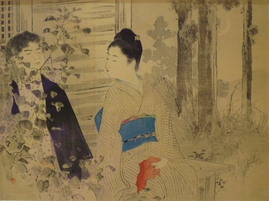 'Whispering Sound' by Mizuno Toshikata, 1900 {{PD}}