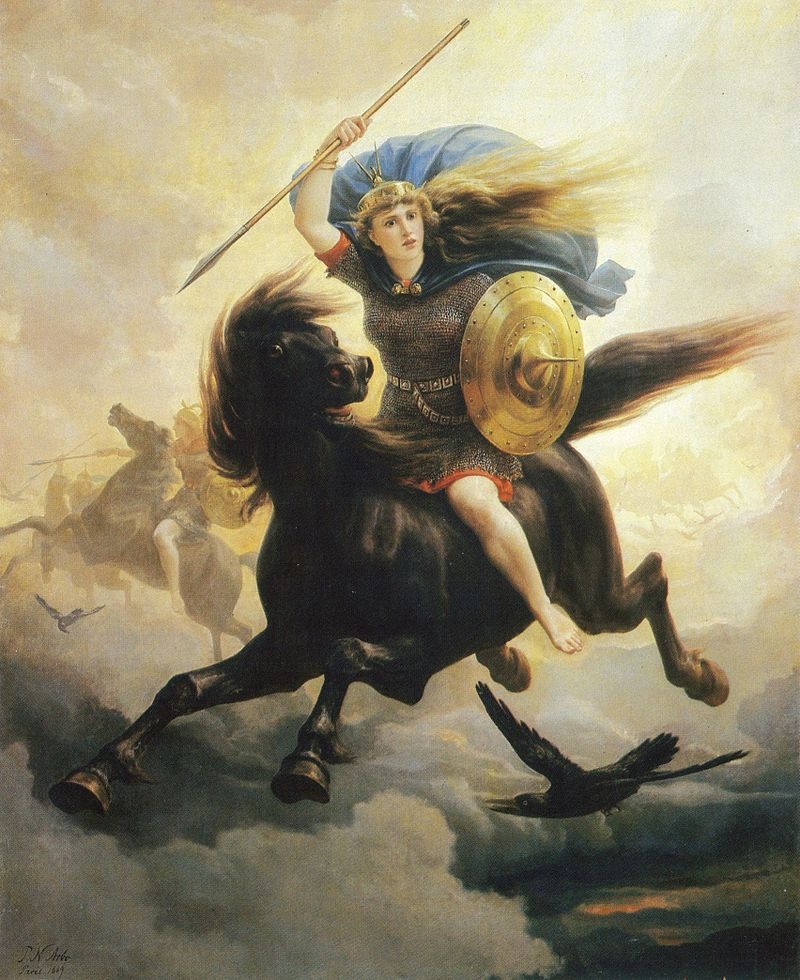 Imagine the Warrior in the Clouds--Peter Nicolai Arbo {{PD}}