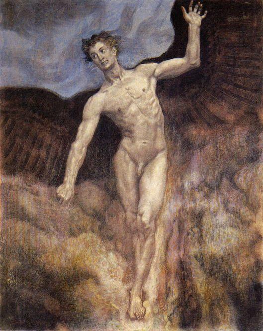 """Sascha Schneider, """"Icarus"""" (1906) {{PD}}"""