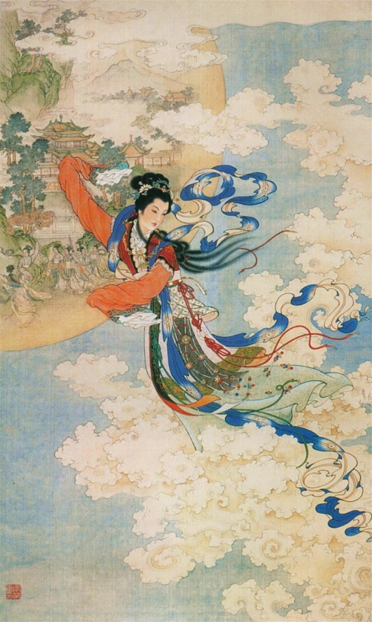 Ren Shuai Ying (任率英) Title 嫦娥奔月 (Chang'e Flying to the Moon) Date 	1955 {{PD}}