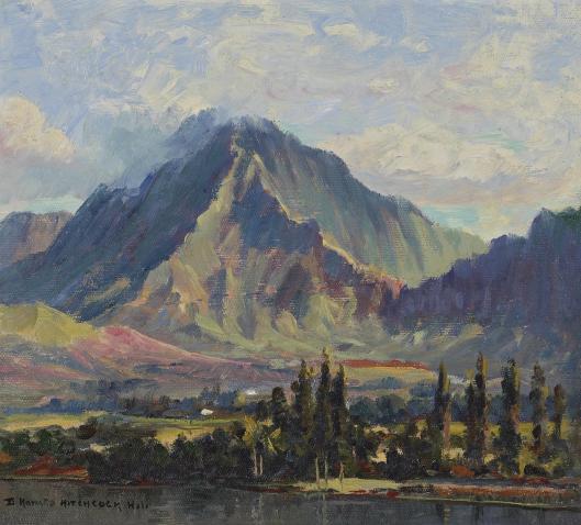 D. Howard Hitchcock - Pali Gap from Kaneolu Bay, Oahu, Hawaii, 1915