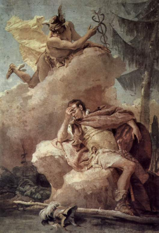 Mercury, looking down on someone who forced a purchase during Merc retro. by Giovanni Battista Tiepolo {{PD}}