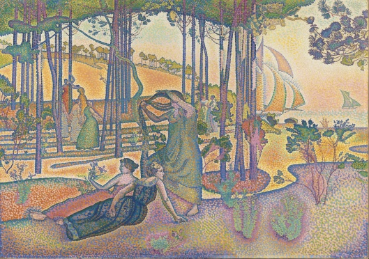 Henri-Edmond Cross - 'The Evening Air' 1893 {{PD}}