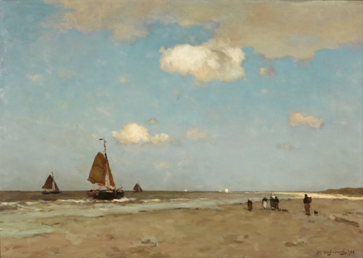Jan Hendrik Weissenbruch - 'Beach Scene' 1887 {{PD}}