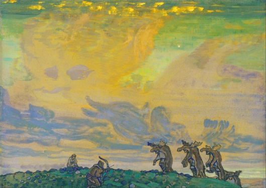 N. Roerich 'The Great Sacrifice' Setting for I.F.Stravinsky's Ballet «Sacred Spring» 1910 {{PD}}
