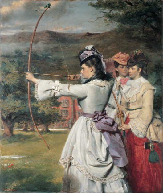 By the 31st we'll begin to see whether we've hit our mark or not. 'The Fair Toxophiles' William Powell Frith 1871 {{PD}}