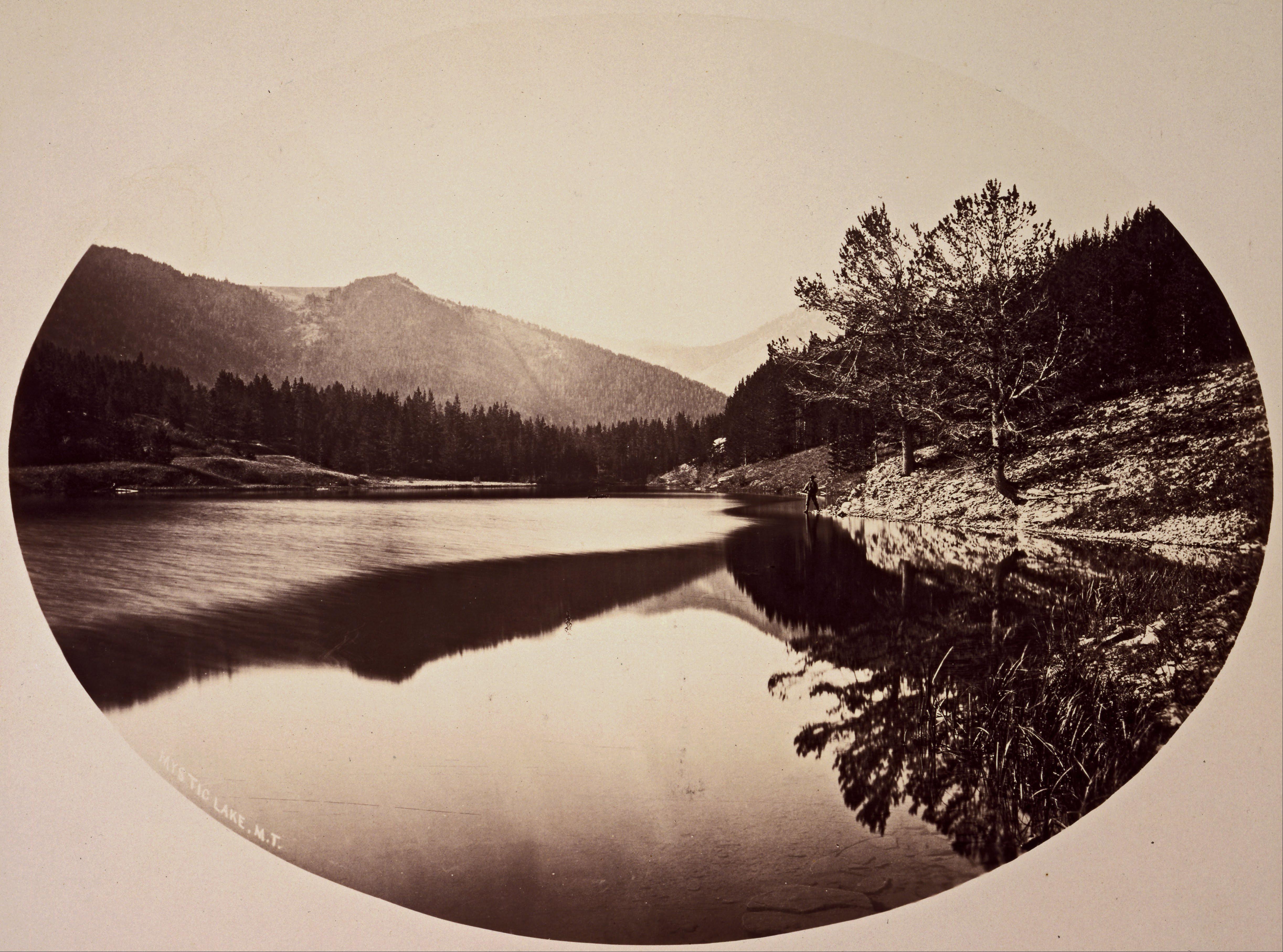 William Henry Jackson - 'Mystic Lake' albumen print 1872 {{PD}}