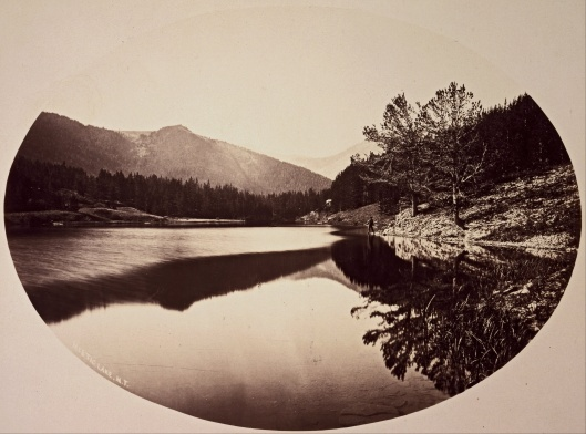 William Henry Jackson - 'Mystic Lake' albumen print 1872 {{PD}}