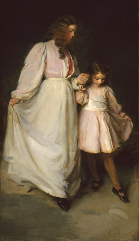 Take that first step, Aquarius. Cecilia Beaux,  'Dorothea and Francesca' 1898 {{PD}}
